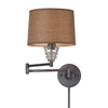 Westmore Lighting 15-in H Weathered Zinc Swing-Arm LED Wall-Mounted Lamp with Fabric Shade