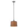 Westmore Lighting Notley 10-in Polished Chrome and Raw Umber Fabric Mini Pendant
