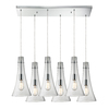 Westmore Lighting Alvingham 30-in Polished Chrome and Clear Glass Mini Clear Glass Pendant