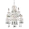 Westmore Lighting Whitehall 25-in 9-Light Antique White Crystal Standard Chandelier