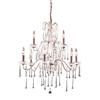 Westmore Lighting Whitehall 25-in 9-Light Rust Crystal Standard Chandelier