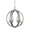 Westmore Lighting Glaisdale 25-in Polished Nickel Single Crystal Pendant