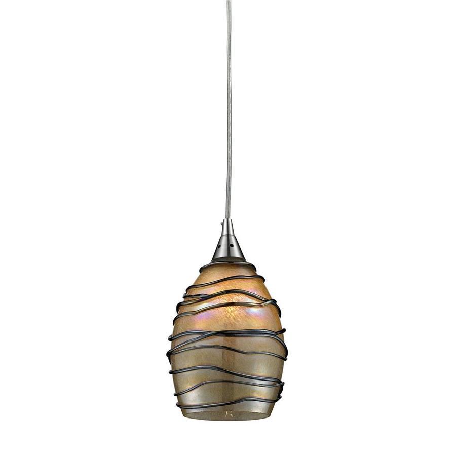 lighting keswick 5 in w satin nickel mini pendant light with tinted. Black Bedroom Furniture Sets. Home Design Ideas