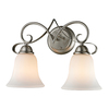 Westmore Lighting 2-Light Colchester Brushed Nickel Bathroom Vanity Light