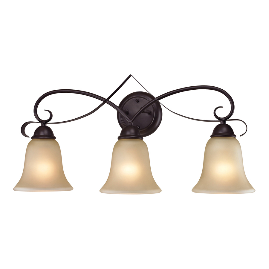 Vanity Lights Oil Rubbed Bronze : Shop Westmore Lighting 3-Light Colchester Oil Rubbed Bronze Bathroom Vanity Light at Lowes.com