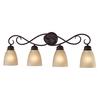 Westmore Lighting 4-Light Sunbury Brushed Nickel LED Bathroom Vanity Light