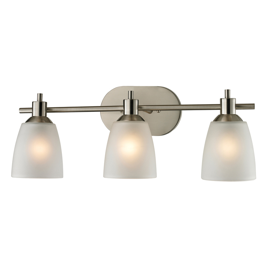 Shop westmore lighting 3 light fillmore brushed nickel for Bathroom 3 light fixtures