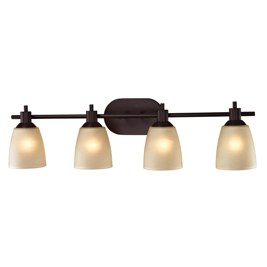 Vanity Lights For Bathroom Bronze : Shop Westmore Lighting 4-Light Fillmore Oil Rubbed Bronze Bathroom Vanity Light at Lowes.com