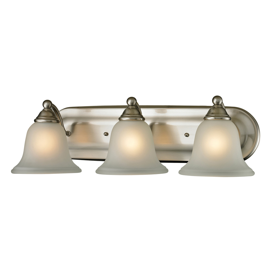 Led Vanity Lights Lowes : Shop Westmore Lighting 3-Light Wyndmoor Brushed Nickel LED Bathroom Vanity Light at Lowes.com