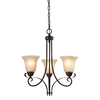Westmore Lighting Colchester 20-in 3-Light Oil Rubbed Bronze Tinted Glass Standard Chandelier