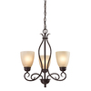 Westmore Lighting Sunbury 20-in 3-Light Oil Rubbed Bronze Tinted Glass Standard Chandelier