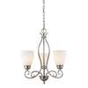 Westmore Lighting Sunbury 20-in 3-Light Brushed Nickel Standard Chandelier