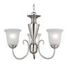 Westmore Lighting Bellwood 23-in 3-Light Brushed Nickel Standard Chandelier