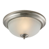 Westmore Lighting 13-in W Brushed Nickel LED Ceiling Flush Mount