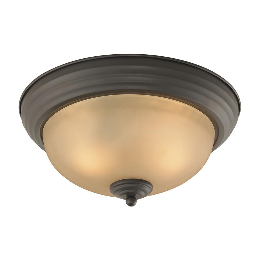 lighting 13 in w oil rubbed bronze led ceiling flush mount at lowes. Black Bedroom Furniture Sets. Home Design Ideas