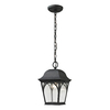 Westmore Lighting Albansville 11-in Matte Textured Black Outdoor Pendant Light