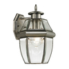Westmore Lighting Keswick 12-in H Medium Base (E-26) Antique Nickel Outdoor Wall Light