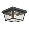 Westmore Lighting Coventry 10-in W Matte Textured Black Outdoor Flush Mount Light