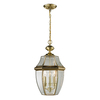 Westmore Lighting Keswick 21-in Antique Brass Outdoor Pendant Light