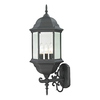 Westmore Lighting Issidore 25-in H Candelabra Base (E-12) Matte Textured Black Outdoor Wall Light