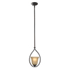 Westmore Lighting Ashland 8-in Oil-Rubbed Bronze Mini Tinted Glass Pendant