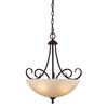 Westmore Lighting Sunbury 18-in Oil-Rubbed Bronze Single Tinted Glass Pendant