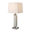 Westmore Lighting Northampton 32-in 3-Way Pearl Indoor Table Lamp with Fabric Shade