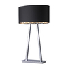 Westmore Lighting Wakefield 30.5-in Chrome Indoor Table Lamp with Fabric Shade