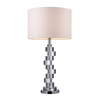 Westmore Lighting Stadnik 29.5-in 3-Way Clear Crystal and Chrome Indoor Table Lamp with Fabric Shade