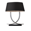 Westmore Lighting Atherton 23-in 3-Way Chrome and Black Indoor Table Lamp with Fabric Shade