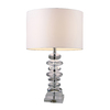Westmore Lighting Union Park 23-in 3-Way Clear Crystal Indoor Table Lamp with Fabric Shade