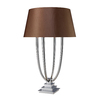 Westmore Lighting Abington 34.4-in Chrome Indoor Table Lamp with Fabric Shade