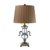 Westmore Lighting Barna 29.2-in Clear Crystal Indoor Table Lamp with Fabric Shade