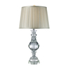 Westmore Lighting Marsett 32-in 3-Way Clear Crystal Indoor Table Lamp with Fabric Shade