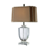 Westmore Lighting Waterdale 25-in 3-Way Clear Crystal Indoor Table Lamp with Fabric Shade