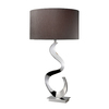 Westmore Lighting Bauman 30-in 3-Way Chrome Indoor Table Lamp with Fabric Shade