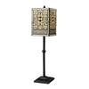 Westmore Lighting Mariposa 27-in Tiffany Bronze Indoor Table Lamp with Glass Shade