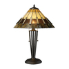 Westmore Lighting Glencoe 23-in Tiffany Bronze Indoor Table Lamp with Glass Shade