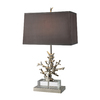 Westmore Lighting Waldendale 29-in 3-Way Polished Nickel Indoor Table Lamp with Fabric Shade