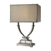 Westmore Lighting Rownberry 24-in Polished Nickel Indoor Table Lamp with Fabric Shade