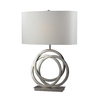 Westmore Lighting Hazelwood 25-in 3-Way Polished Nickel Indoor Table Lamp with Fabric Shade