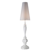 Westmore Lighting Lisbon 63-in Gloss White Indoor Floor Lamp with Fabric Shade