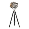 Westmore Lighting Tobin 67-in Chrome and Black Indoor Floor Lamp with Metal Shade