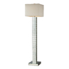 Westmore Lighting Newton 63-in 3-Way Clear Indoor Floor Lamp with Fabric Shade
