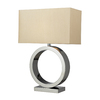Westmore Lighting Hawking 27-in 3-Way Chrome Indoor Table Lamp with Fabric Shade