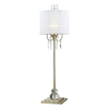 Westmore Lighting Hardy 41-in Silver Indoor Table Lamp with Fabric Shade