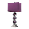 Westmore Lighting Neumann 27-in Black Nickel Indoor Table Lamp with Fabric Shade