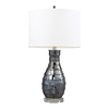 Westmore Lighting Crichton 25-in 3-Way Navy Pearl Indoor Table Lamp with Fabric Shade