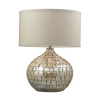 Westmore Lighting Doyle 25-in 3-Way Pearl Cream Indoor Table Lamp with Fabric Shade