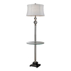 Westmore Lighting Conroy 67.5-in 3-Way Polished Nickel and Clear Crystal Indoor Floor Lamp with Fabric Shade